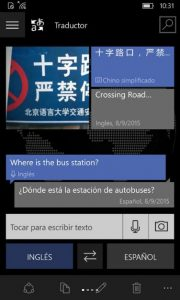app traductor de bing para Windows Phone