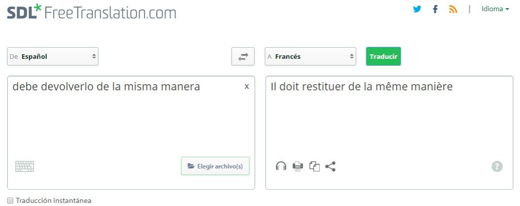 traductor de texto y documentos online SDL free translation