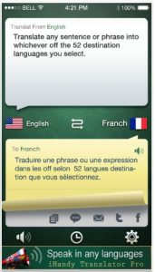 traductor en varios idiomas para iphone iHandy